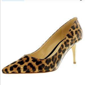 Marc Fisher   Turner Leopard Gold Heel 6.5